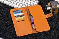 Strap Hand Card Wallet Genuine Cow Leather Mobile Phone Case Pouch For Vernee Apollo Thor Thor