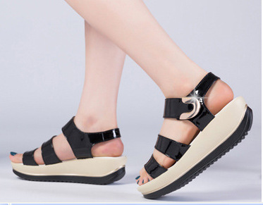 summer style shoes woman sandals sparkle wedge heels vintage ...