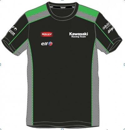 Free shipping 2016 Kawasaki Motocard Team Race Wear shirt mens Motorcycle Motorbike MOTO racing jersey