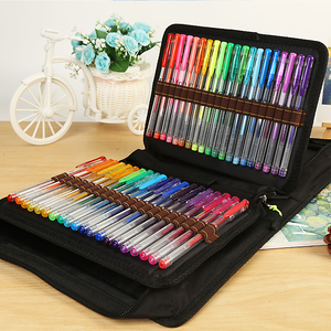 Image 3 - BGLN 100 สีเจลปากกาผ้าใบกระเป๋าชุดเติมหมึกเจลปากกา Metallic Pastel Neon Glitter โรงเรียน Sketch สำหรับภาพวาดสีปากกา