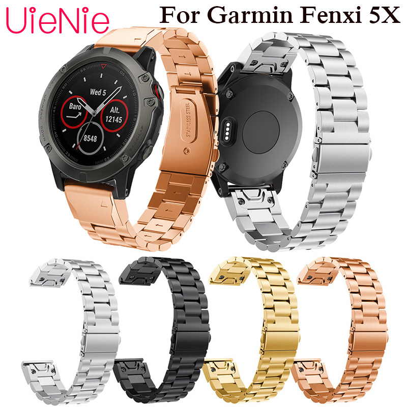 26mm strap quick release metal stainless steel bracelet with Garmin Fenix 5X wrist easy to wear straps Band
