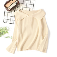 Sweety Women Sweaters Spring Autumn Pullovers Flared Sleeve Casual Knitting Shirts 2019 Knitted Tops Femme Pull Knit Tees