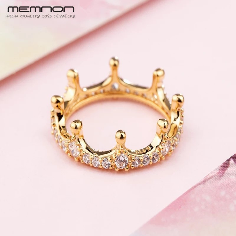 Memnon shine style Radiant Heart Limited Edition Honeybee Honeycomb Lace Rings for women 925 sterling silver jewelry ring RIP157