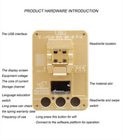 WL PCIE 8 NAND Test Fixture for iPhone 8 8P X NAND Flash Underlying Data Read Write Programmer SN Model Country Color modify