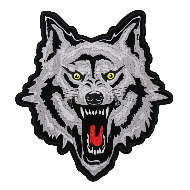 Wolf Embroidery Paste Large Clothes Patch Up Hole Large Jeans Decoration Paste Fashion Back Decoration Paste