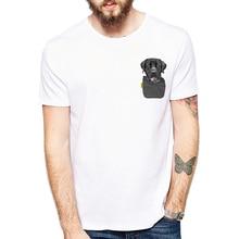 Dog in a Pocket Print T-Shirt