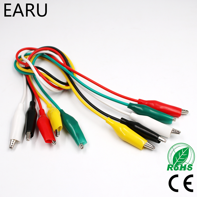10 x  Crocodile CLIPS for Test Leads  Croc Clip Battery