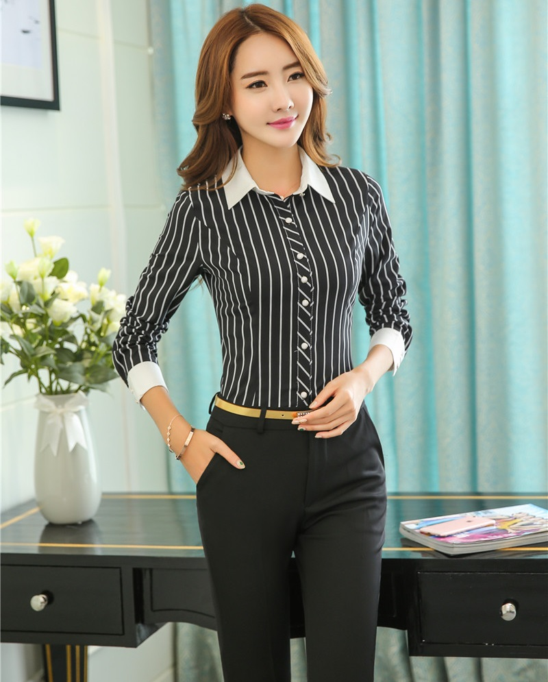 New Professional Business Women Work Suits With Tops And Pants ...