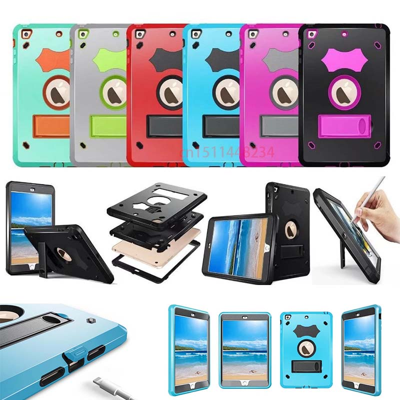 For iPad Mini/iPad Mini 1 2/iPad Mini 3 Case Silicone Heavy Duty Shockproof Hybrid Rubber Rugged Hard Protective Skin Cover Case szegychx tablet case for ipad air 2 eva heavy duty shockproof hybrid rubber rugged hard protective skin safe shell cover case