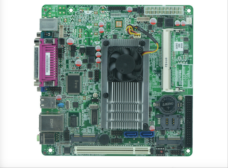 Mini Itx industrial motherboard Intel Atom N455 CPU Fanless POS motherboard industrial pos mini itx motherboard atom n450 1 8g dual core four threads pos motherboard