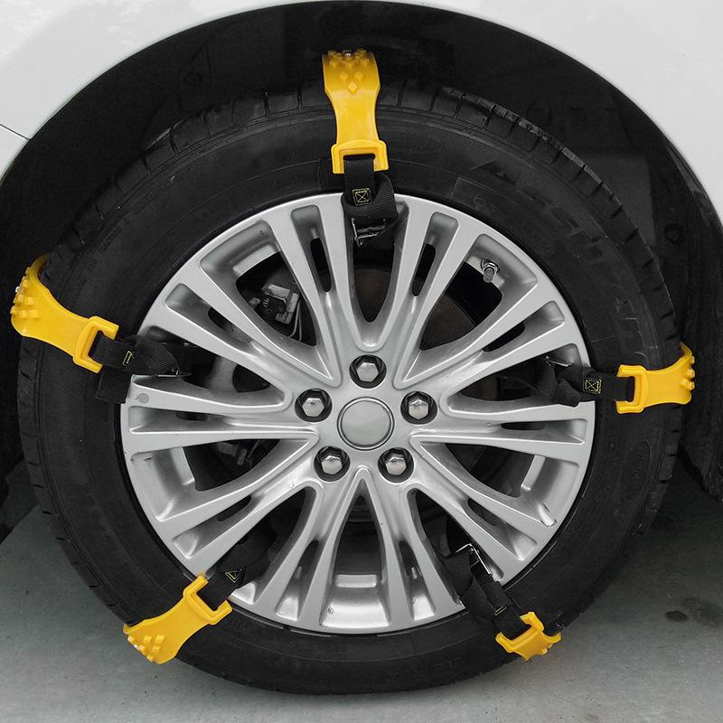 Adeeing 10 pièces/ensemble TPU voiture neige chaînes universel voiture neige pneu chaînes boeuf Tendon véhicules roue antidérapant TPU chaîne - 3