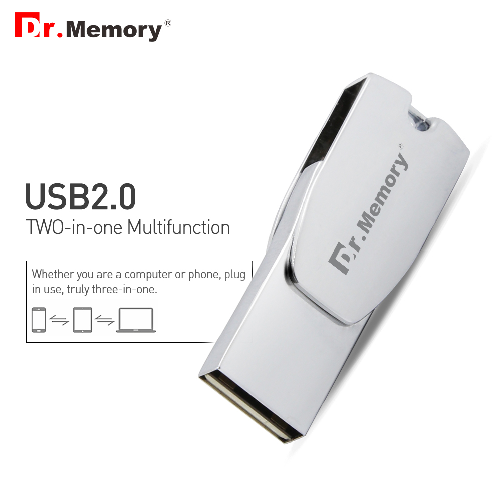 2in1 OTG USB Flash Drive Metal Memory Stick for Iphone 6s 7 Plus Tablets Mini Pendrive 16G 32GB 64GB U Disk for IOS Mobile Phone|USB Flash Drives| |  - title=