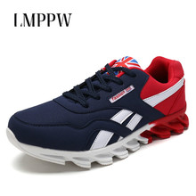 Spring Autumn Breathable Men Sneakers Men Leather Casual Shoes Fashion Lightweight Men's Vulcanize Shoes Big Size 39-46