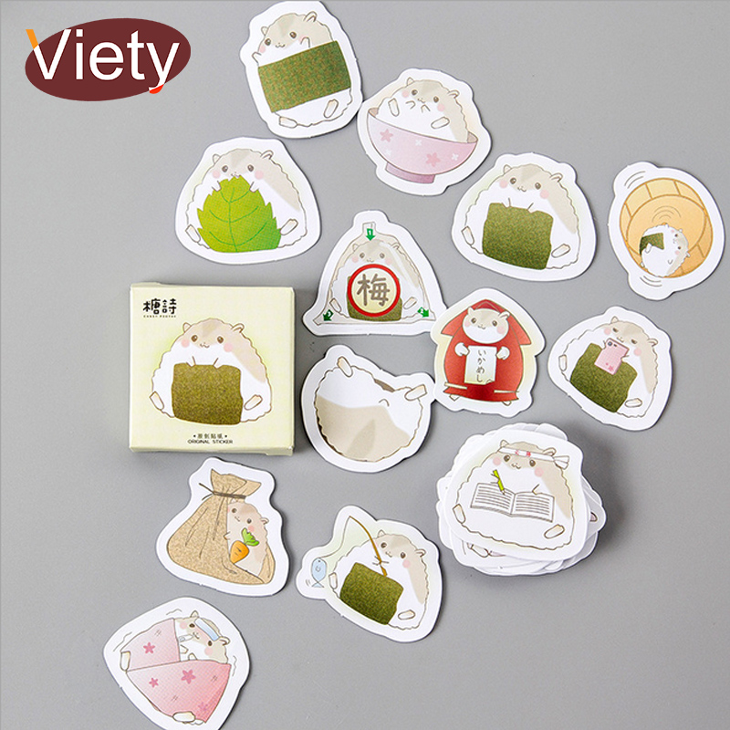45 Pcs/lot Animal Cute Little Hamster Mini Paper Sticker Decoration DIY Album Diary Scrapbooking Label Sticker Kawaii Stationery