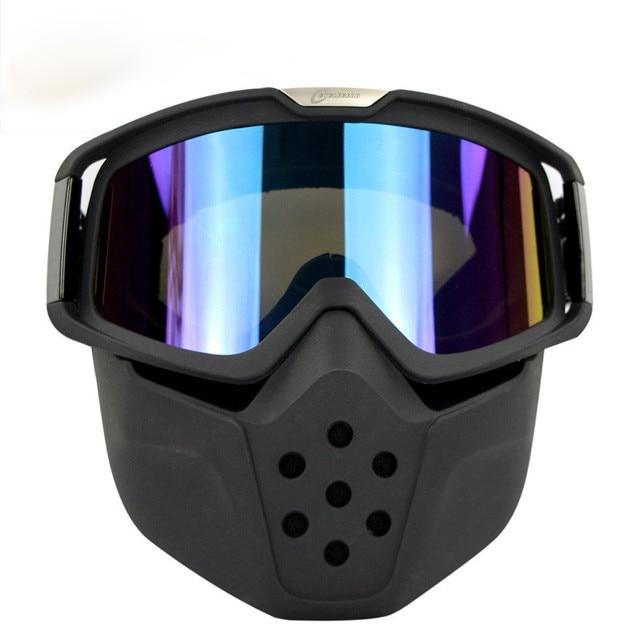 3d530d093534e Hot Óculos Máscara Para Destacável Abrir Rosto Meio Capacete Da Motocicleta  Do Vintage Das Mulheres Dos