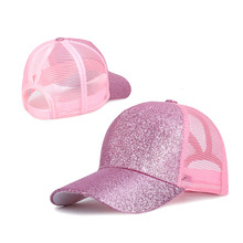 2019 Summer New Bling Truck Ponytail Baseball Cap Women Opening Ladies 5 Colors