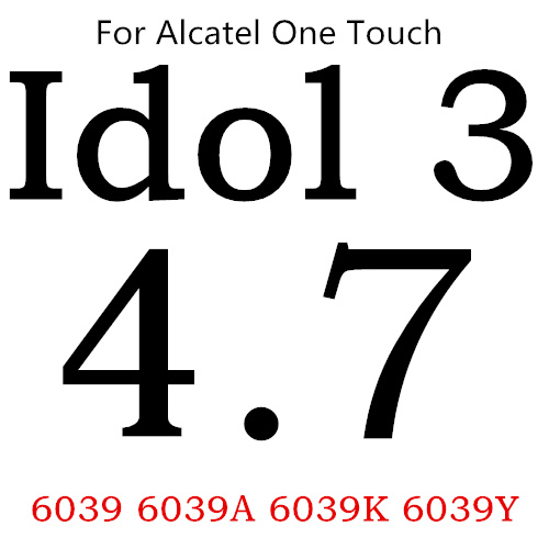 Экран протектор Закаленное Стекло для Alcatel One Touch Pop 3 5,5 5025D Idol 3 POP4 5051 4S Pixi 4 5,0 5010 Pixi3 4,5 5019D 5017 - Цвет: For Idol 3 6039