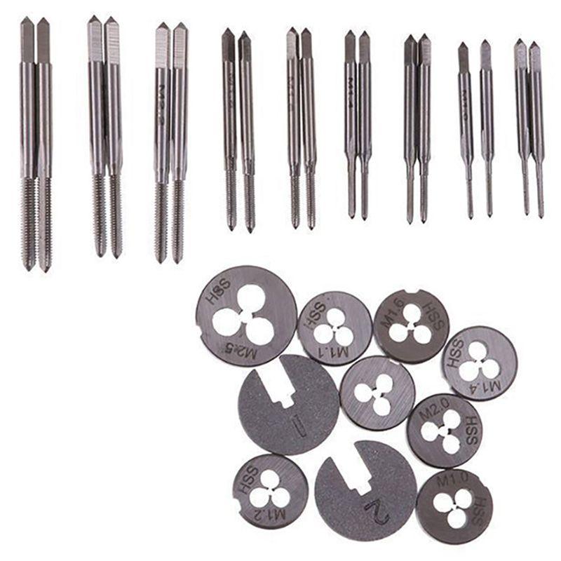где купить 30pcs Metric Taps Dies Set Mini NC Screw Thread Plugs Taps Carbon Steel Hand Screw Taps Hand Tools по лучшей цене