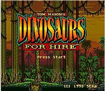 Dinosaurs For Hire 16 bit MD Game Card For Sega Mega Drive For Genesis