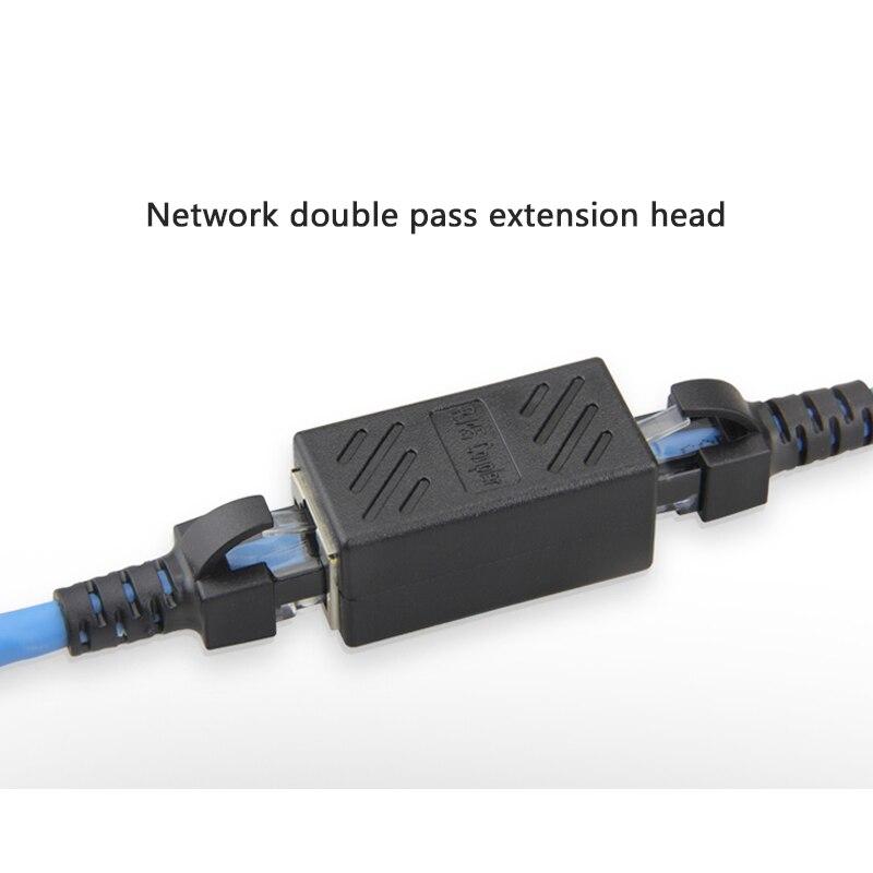 1 Pc Rj45 Stecker Cat5 Netzwerk Ethernet Adapter Weiblichen Zu Weibliche 8p8c Netzwerk Extender Verlängern Kabel Lan Stecker Kupplung