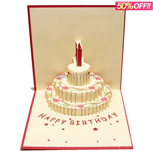 Foreign trade import and export of creative DIY birthday cake 3 d