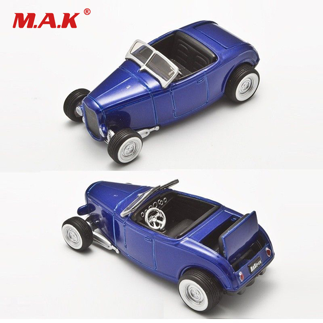 1 64 Scale 1932 Two Seat Retro Car Cast Vehicles Blue Clic Cars Collection For