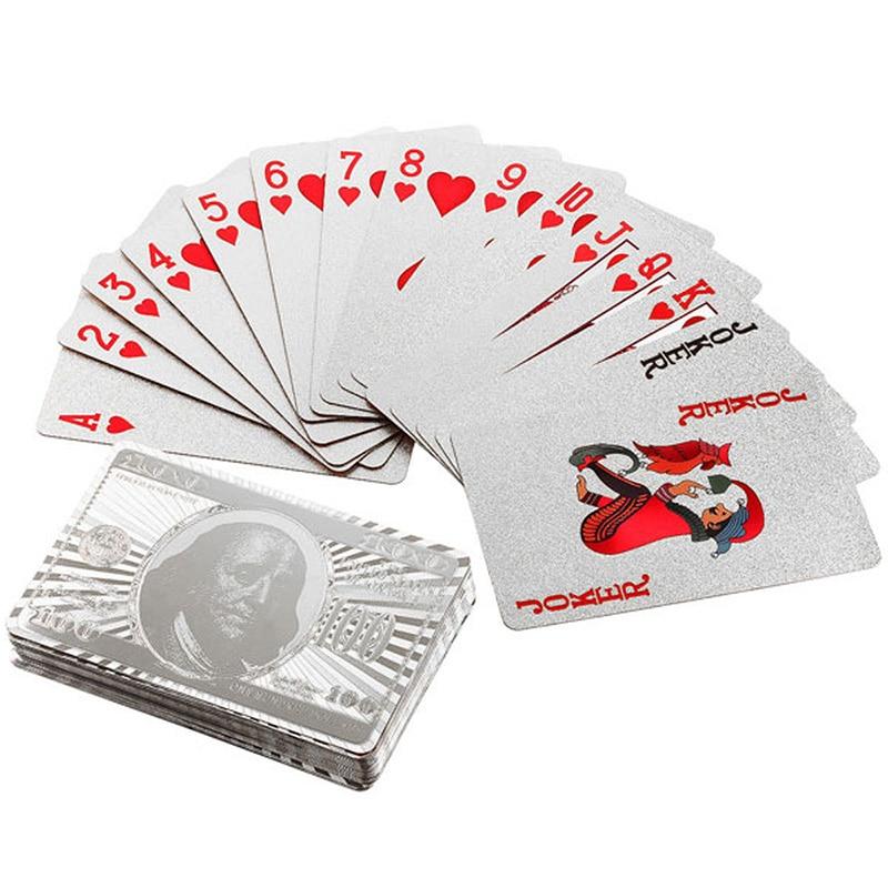 Silver Foil Poker Creative Models Waterproof Color Plastic P