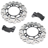 1 Set Motorcycle Black Front Brake Disc Rotor For Y A M A H A TMAX500