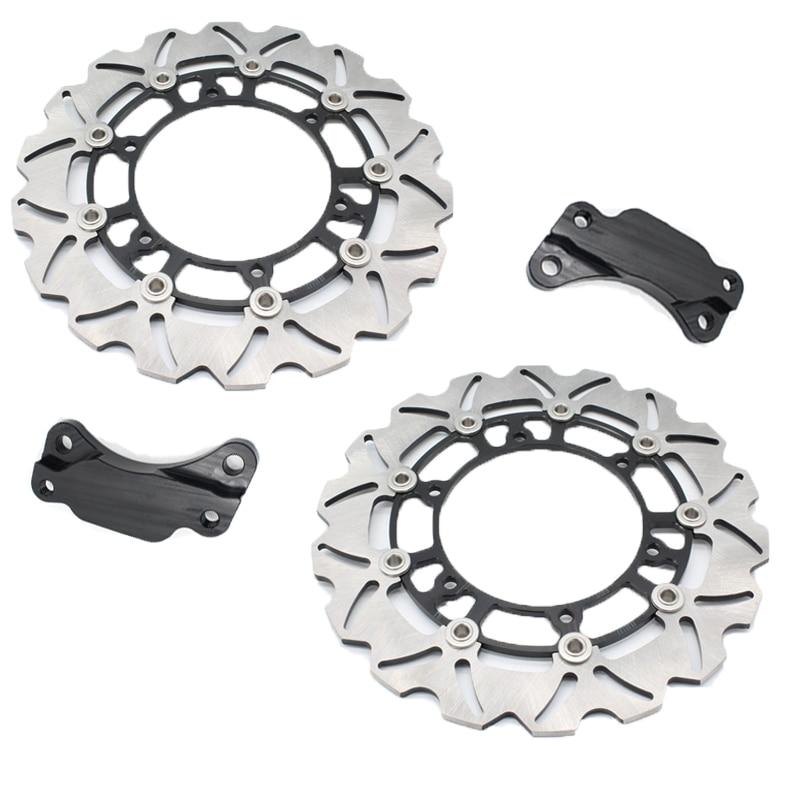 1 Set Motorcycle Black Front Brake Disc Rotor For Y A M A H A TMAX500 TMAX 500 2008-2013 09 10 11 12 1 set motorcycle front