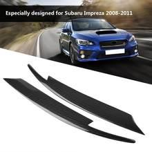 2Pcs Auto Scheinwerfer Carbon Faser Augenlider Augenbrauen für Subaru Impreza WRX STI 2008 2009 2010 2011