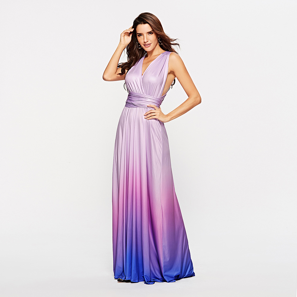 Sexy Women Multiway Wrap Convertible   Prom     Dresses   2019 Cheap Bandage Long   Dress   Evening Party Gowns robe de soriee