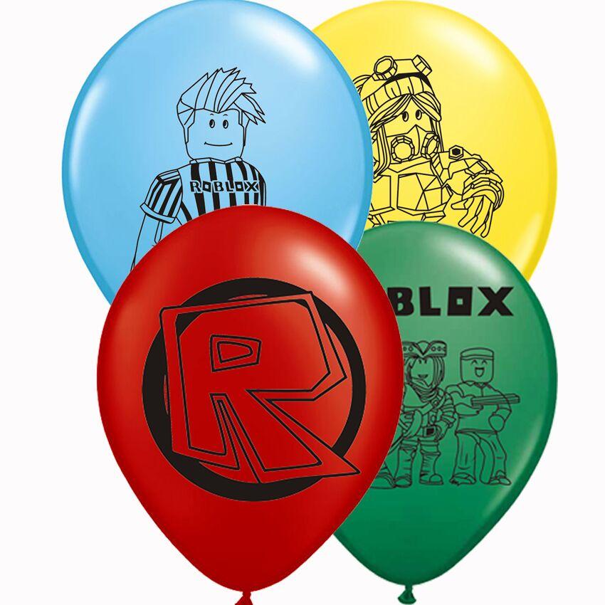 12 inch 12pcs/lot Roblox Latex Balloons Birthday Party Supplies  Kids Toys Globos Inflateble Air Balloon
