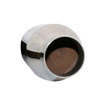 Автомобильный каталитический преобразователь с металлическим покрытием катализатор для авто глушитель Замена евро 3/5 стандарт 300 ячеек Бе...