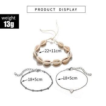 Vintage Boho Shell Jewelry Multilayer Shell Anklets For Women Bracelet Shell Leg Bracelet 2019 DIY Jewelry Accessories Wholesale 5