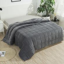 SunnyRain 1 Piece Weighted Blanket for Adult Gravity Blankets Sleep conducive Cross shaped Quilted