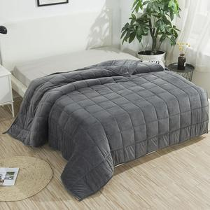 Image 1 - SunnyRain 1 Piece Weighted Blanket for Adult Gravity Blankets Sleep conducive Cross shaped Quilted