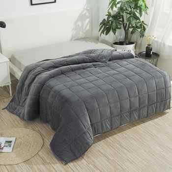 SunnyRain 1-Piece Weighted Blanket for Adult Gravity Blankets Sleep-conducive Cross-shaped Quilted - DISCOUNT ITEM  13% OFF All Category