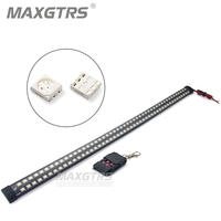 Double Row 20 Modes Infrared Remote Control Change Color RGB 56CM 96LED Car LED Flexible Knight