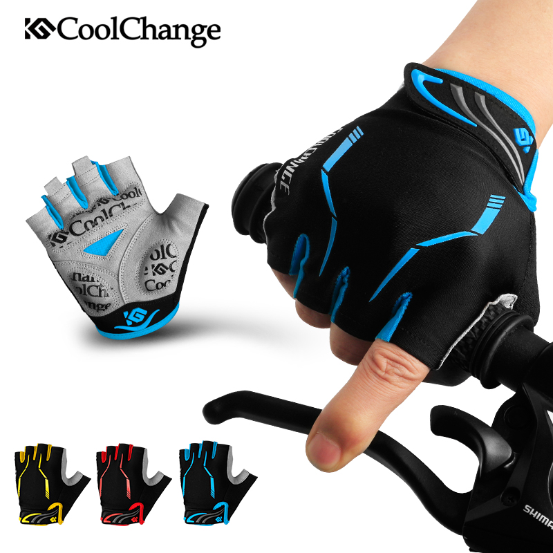 CoolChange bike gloves GEL Pad bicycle Glove outdoor sports mtb half finger cycling gloves guantes ciclismo 2018 3 Colors racmmer cycling gloves guantes ciclismo non slip breathable mens
