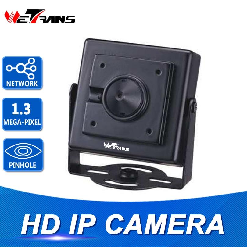 Mini HD kamera IP CMOS senzor 720P HD 960P kovové pouzdro Onvif POE IP 3,7 mm dírkové čočky Mini CCTV bezpečnostní dírková kamera