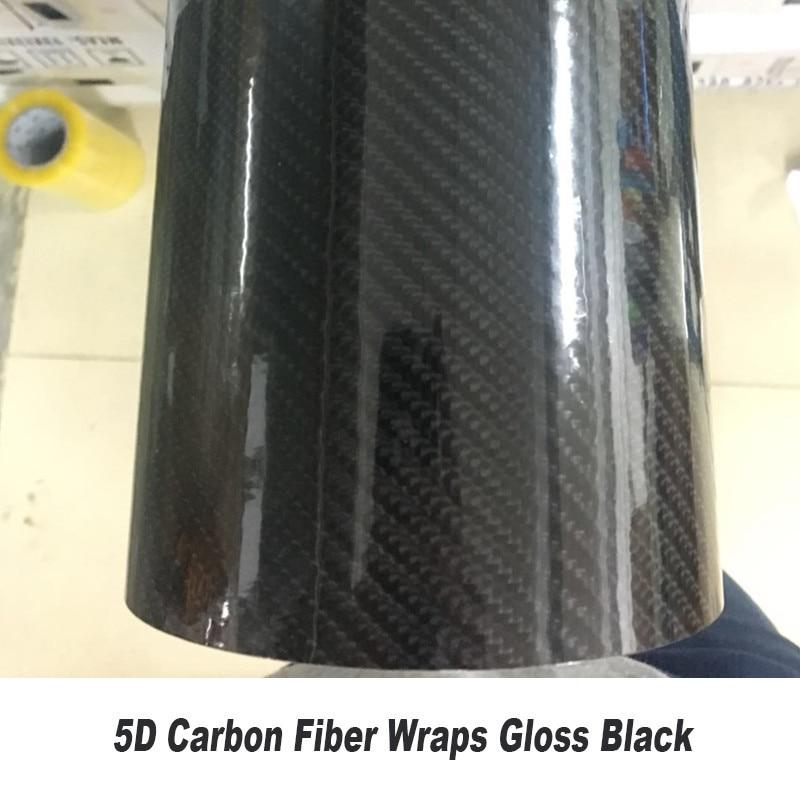 High-quality black 6D Carbon Fiber Viny wrapping  Film high glossy warp carbon fibre Interior Classical carbon fibre