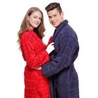 القطن البشكير بطانية منشفة رداء المرأة ثوب النوم السيدات ملابس للبنات رشاقته عشاق طويلة لينة الشتاء الأحمر