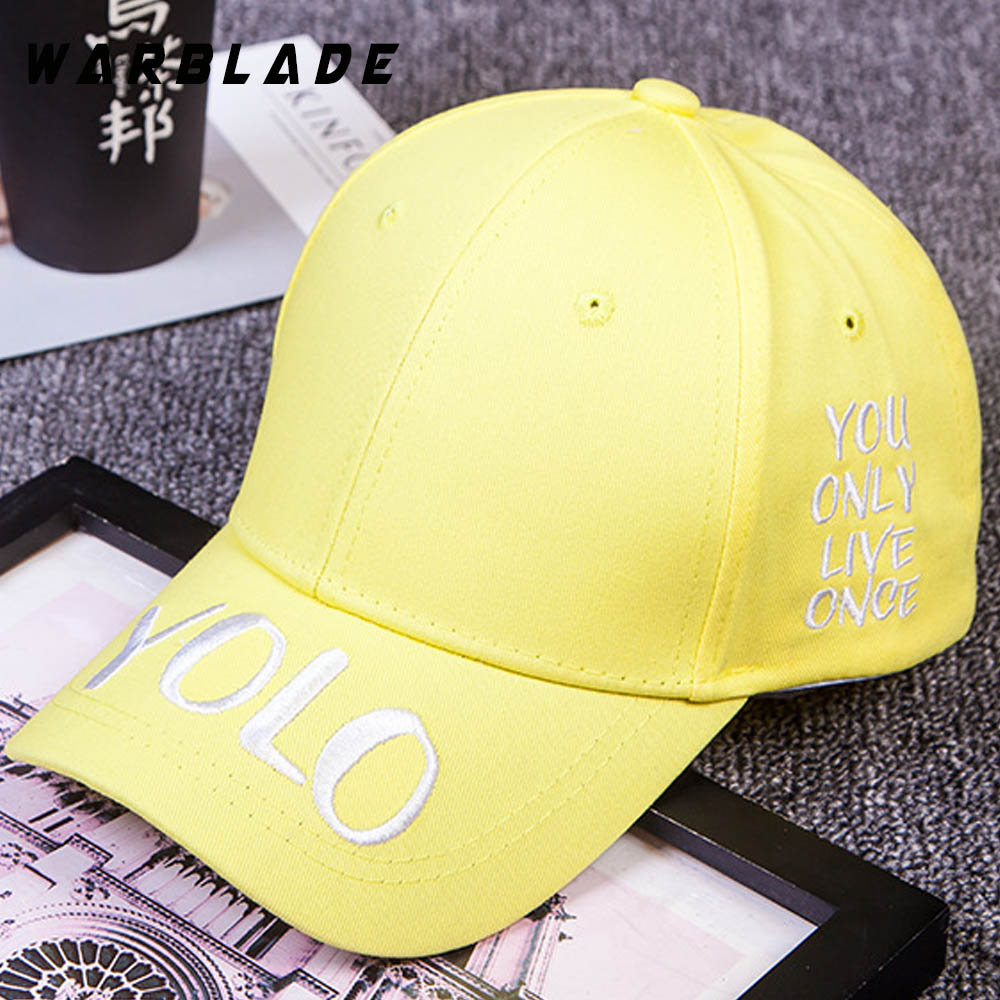 5d62b1b72 WARBLADE Hot Selling YOLO Letter Embroidery Baseball Cap Couples Hip ...
