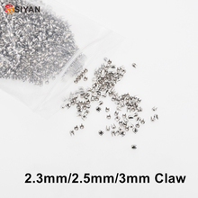Rivet Decorative Pearl Clothing Cap Tubular Claw-Nail Stainless-Steel Round 3mm Four-Jaw