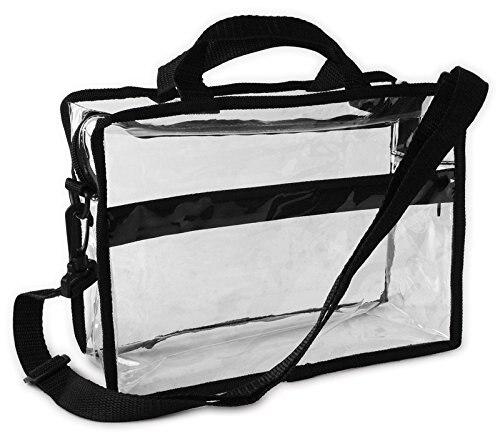 Custom Transparent PVC Briefcase Style Shoulder Bag With Detachable Strap