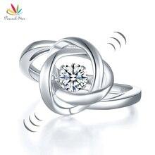 Павлин звезда тканые Твердые 925 пробы Серебряное кольцо стиль CFR8284