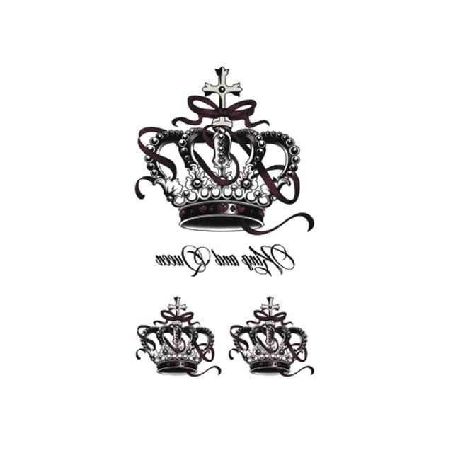 Us 0 43 Wyuen Waterproof Temporary Tattoo Stickers For Adults Kids Body Art Ancient Crown Fairy Tale O 024 Fake Tatoo For Man Woman In Temporary