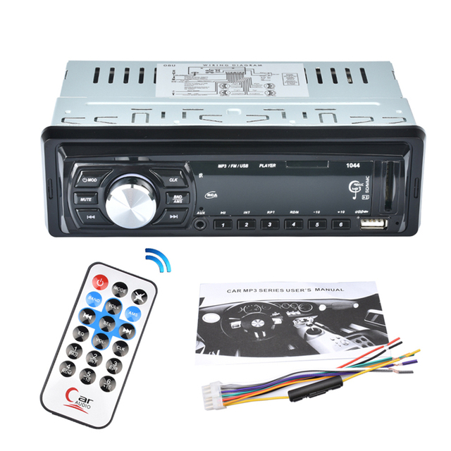 12V Car Audio Stereo Support USB SD Mp3 Player for AUX DVD VCD CD Player with Remote Control FM Car Input Receiver Stereo