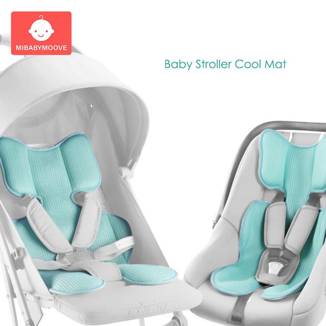Baby Stroller Seat Breathable Cushion Mat Summer Cool Pad Newborn Car Pram Chair Mattress Summer Breathable Stroller Accessories