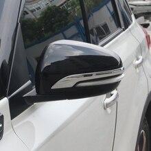 Per Suzuki s-cross di SX4 2014-2018 del corpo di Automobile ABS del bicromato di potassio posteriore vista posteriore di Retromarcia Copertura Laterale Dello Specchio bastoni cornice cornice lampada hood 2 pz